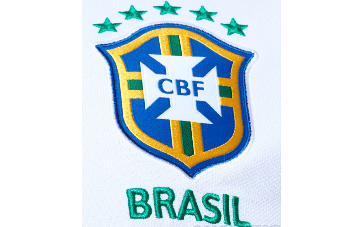Camiseta blanca de Brasil Copa América 2019
