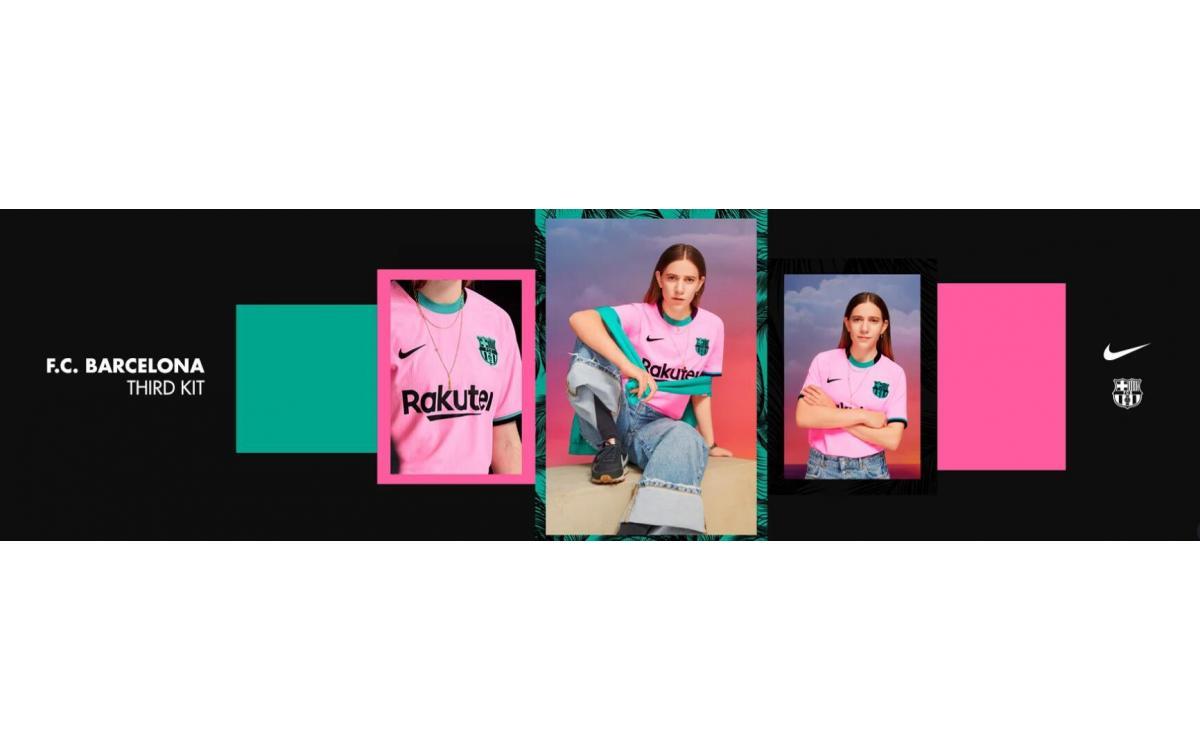 Así es la nueva camiseta rosa del Barcelona