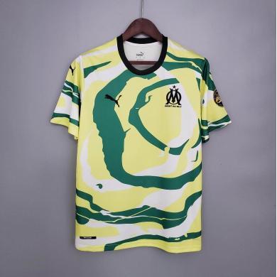 """Camisetas Olympique Marseille """"OM Africa"""" Edición especial 2021/2022  Blanco Amarillo Verde"""