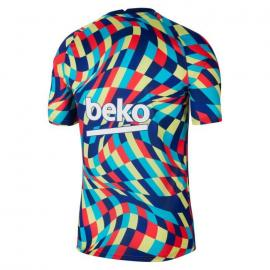 Camiseta De Calentamiento Fc Barcelona 2020/2021 Azul