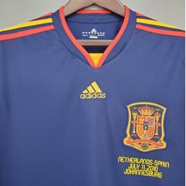 Camiseta Retro España 2ª Equipación 2010 Manga Larga
