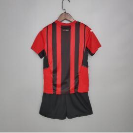 Camiseta AC Milan 1ª Equipación 2021/2022 Niño