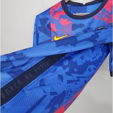 Camiseta Del Barcelona Para La Champions 2021-22 Niño