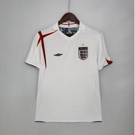 Camiseta Retro 2006 Inglaterra Primera Equipación
