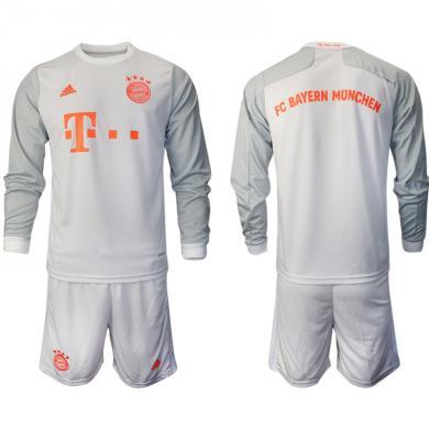 Camiseta FC Bayern Munich Segunda Equipación 2020-2021 Manga Larga