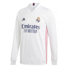 Camiseta Real Madrid Primera Equipación 2020-2021 Manga Larga Niño