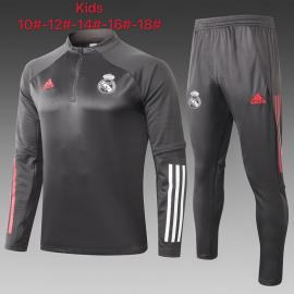 Chandal Entrenamiento FC Real Madrid 2021 Gris Oscuro Niño