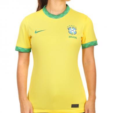 Camiseta Primera Equipación Brasil Mujer 2020 2021 Stadium