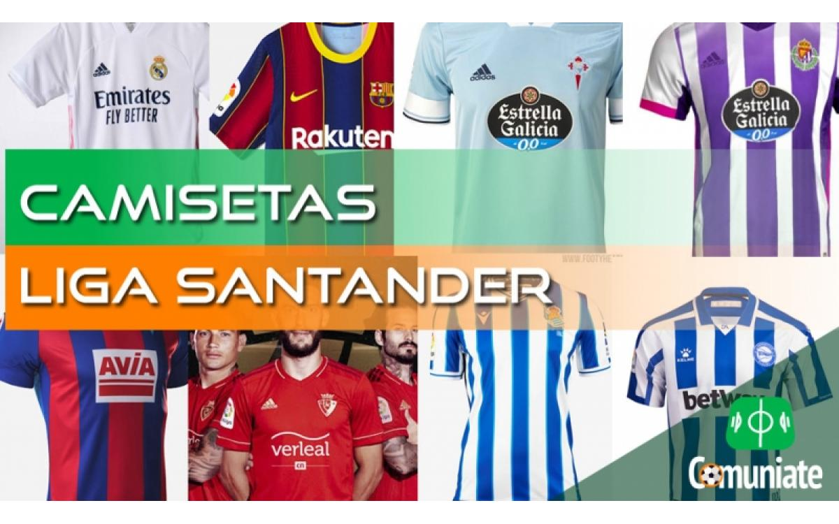 Camisetas de fútbol de la Liga Santander 2020/2021