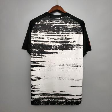 Camiseta Pre Train Real Madrid Hombre - Blanco Y Negro