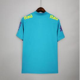 Camiseta 2021 Brasil Pre-Partido Azul