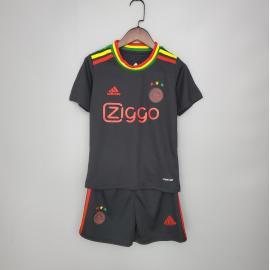 Camiseta A-j-a-x Fc Concepto Negro 2020/2021 Niño