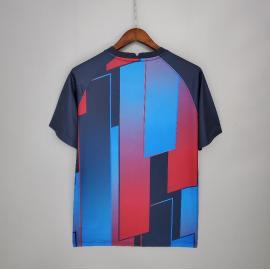 Camiseta Barcelona Entrenamiento 21/22 - Azul Rojo