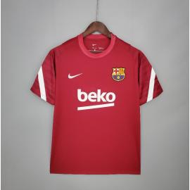 Camiseta Barcelona Entrenamiento 21/22 Rojo