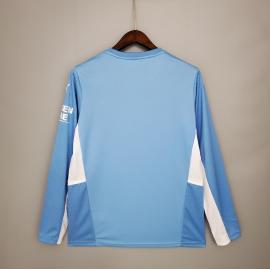 Camiseta Manchester City Primera Equipacion 2021/2022 ML
