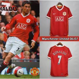 Camiseta Retro Manchester United Primera Equipación 06/07