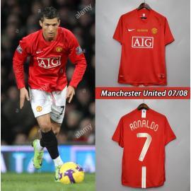 Camiseta Retro Manchester United Primera Equipación 07/08