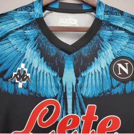 Camiseta Scc Napoli Negra X Azul 2020-2021