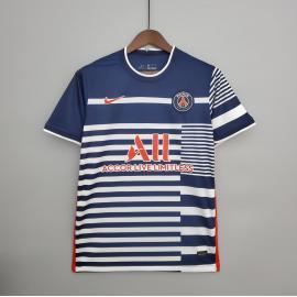 Camiseta de Entrenamiento PSG 2021/2022 Azul/Blanco