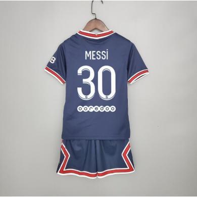 Camiseta de Messi en el PSG Primera Equipación 2021-2022 Niño