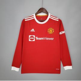 Camiseta de la equipación local de la Copa del Manchester United 2021-22 de manga larga