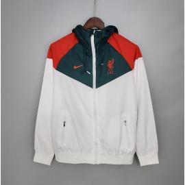 Rompevientos 2021 Liverpool Blanca Verde Roja