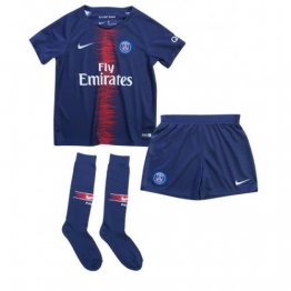 Camiseta 1a Equipación Paris Saint-Germain 18-19 Little Boy's Kit