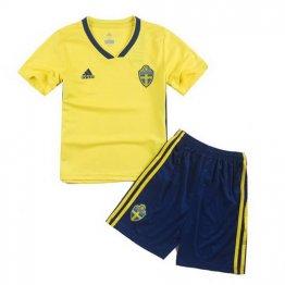 Camiseta Suecia 1ª Equipación 2018 Niños