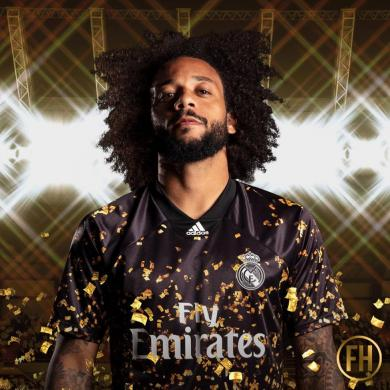 CAMISETA 4ª REAL MADRID 2019/2020 EA SPORTS NEGRO DORADO