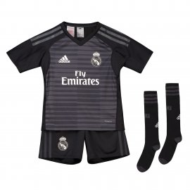 Conjunto mini 1ª equipación de portero del Real Madrid 2018-19