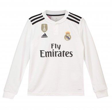 Camiseta de la 1ª equipación del Real Madrid 2018-19 de manga larga para niños