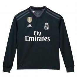 Camiseta de la 2ª equipación del Real Madrid 2018-19 de manga larga para niños