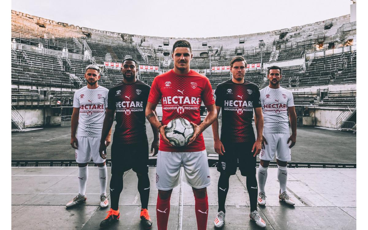 Nimes 2019-20 temporada camiseta local y visitante