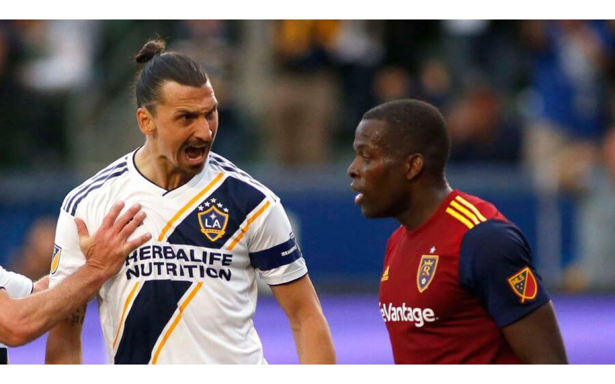 WATCH: LA Galaxy star Zlatan Ibrahimovic in angry clash with former Man City defender Nedum Onuoha d