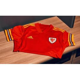 Maglia f??tbol Gales Home Euro 2020