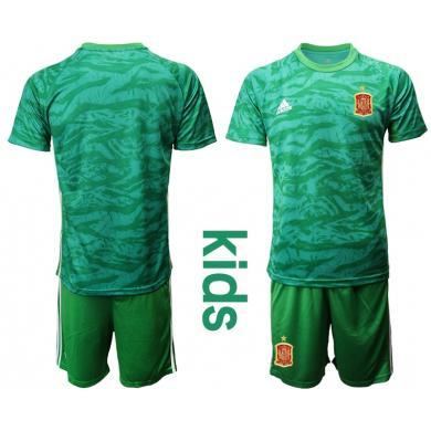 Camiseta España Portero en Verde 2020 Edición Copa De Europa Nino