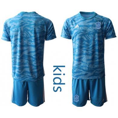 Camiseta España Portero en Azul 2020 Edición Copa De Europa Nino