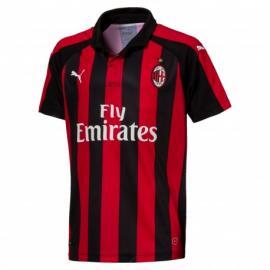 Camiseta 1a Equipación AC Milan 18-19 Niños