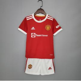 Camiseta Manchester United Primera Equipación 2021/2022 Niño