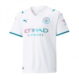 Camiseta Manchester City Segunda Equipacion 2021/2022 Niño
