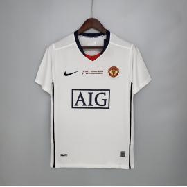 Camiseta Retro Manchester United 08/09 Champions League blanca visitante