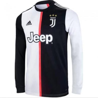 Primera Equipacion Camiseta Juventus Manga Larga 2019-2020