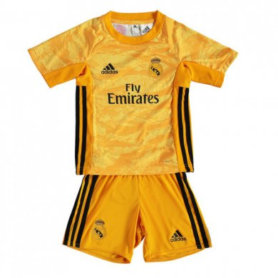 Camiseta De Portero Real Madrid 2019/2020 Amarillo Niño Kit