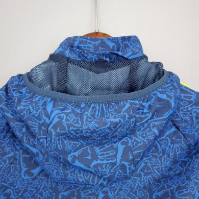 Cortavientos 21/22 Barcelona Azul Camuflaje