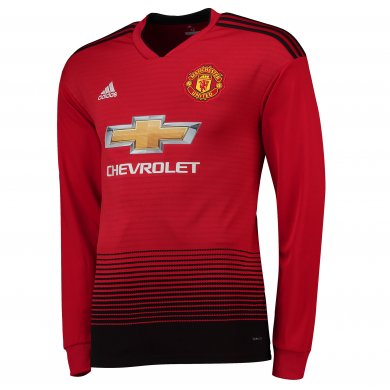 Camiseta de la equipación local del Manchester United 2018-19 de manga larga