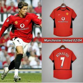 Camiseta Retro Manchester United Primera Equipación 02/04