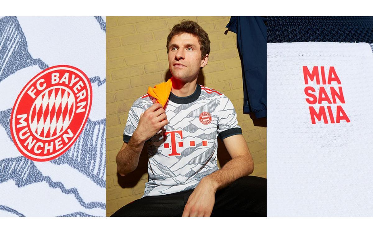 Camisetas Bayern Munich 2021-22 Tercera Equipación 2021-2022