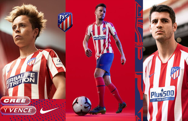 camiseta del Atletico Madrid 2019 2020 Home Kit